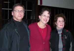 Jim, Mary, and Agi Geva