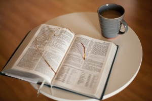 Bible and Hot Drink